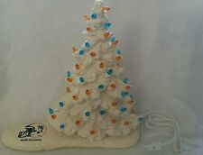 New Ceramic Christmas TreeLight/Great Piece MIAMI DOLPHINS DECAL...