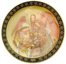 Die Huldigung der Engel Sulamith Wulfing Christmas 1988 plate HJ223