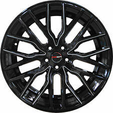4 GWG Wheels 20 inch Black Mill FLARE Rims fits DODGE CHARGER AWD 2005 - 2018