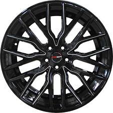 4 GWG Wheels 20 inch Black Mill FLARE Rims fits CHEVY IMPALA LTZ 2006 - 2013