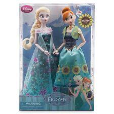 Conjunto de muñeca de fiebre Frozen Anna y Elsa Disney Tienda Auténtico Nuevo En Caja