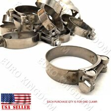 "2.5"" - 2.75"" Stainless Steel Band Motorcycle Exhaust Muffler T-bolt Clamp"
