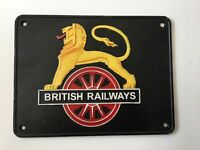 British Railways Lion Train Logo - Cast Iron Sign Plaque