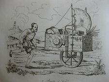 1834 Voyage autour du monde Urville 4 gravures double feuille Chine  Péking