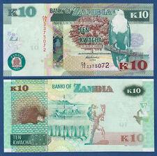SAMBIA / ZAMBIA 10 Kwacha 2012 UNC  P. 51 a