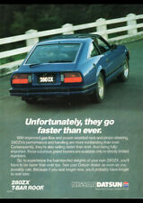 "1982 NISSAN DATSUN 280ZX AD A4 CANVAS PRINT POSTER 11.7""x8.3"""