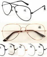 L3025 Classic Aviator Pilot Style Double Bridge Metal Reading Glasses/Large Lens