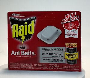4 Pack Raid Ant Baits Child Resistant .12 Oz. Lasts 3 Months - NIB