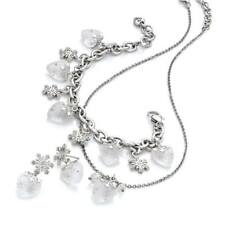 NWT Brighton HEARTFLAKES Snowflake Necklace Earrings Bracelet SET Pouch MSRP$184