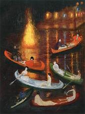 Fete On The Lake : Florine Stettheimer : 1922 : Archival Quality Art Print