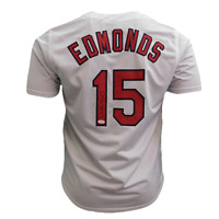 Jim Edmonds Autographed St. Louis Pro Style Baseball Jersey White (JSA)