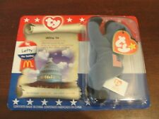 McDONALDS AMERICAN TRIO BEANIE BABY 1996 - LEFTY the DONKEY SEALED PACKAGING