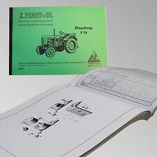 Fendt Ersatzteilliste für Dieselross F 24 Traktor Schlepper 24001