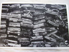 1950 'S 1960 'S CARS CRUSHED AND STACKED IN JUNK YARD 11 X 17  PHOTO /  PICTURE