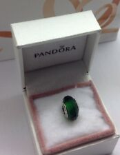 "Pandora "" Green Faceted "" S925ale Murano Glass Charm # 791619"