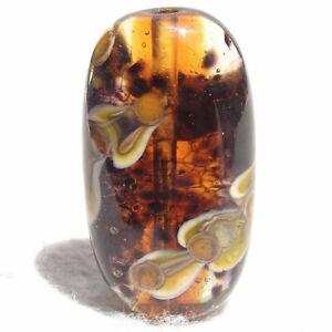 SMOLDER Handmade Art Glass Focal Bead Flaming Fools Lampwork Art Glass SRA