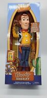 """New DisneyStore Toy Story 4 Interactive Action Talking Doll 15"""" Woody"""