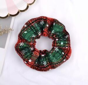 Christmas Scrunchie Elastic Ponytail Holder Hair Accessories Gift Stocking Fille