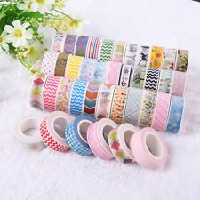 Lot Of 5Pcs 1.5cm×10M Washi Masking Tape Basteln Klebeband Scrapbook Reispapier