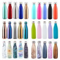 500ML Double Walled Vacuum Insulated Stainless Steel Water Drinks Sport Bottle