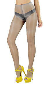 OIL SHINE pantyhose sheer to waist sandal toe no gusset glossy tights sexy