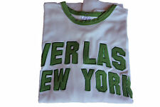 T-Shirt Everlast New York  - M.L. - mis. XL - col. Bianco - Everlast verde