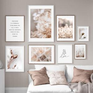Nature Plant Flower Canvas Painting Nordic Poster Botanical Art Print Home Decor