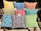 40x40 Indoor/Outdoor Moroccan Cushion Cover Green,Aqua,Orange,Grey,Red,Yellow