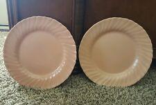 "Set of 2 GMB Franciscan Coronado Swirl Coral Luncheon Plates 9 3/8"""