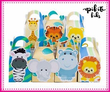 SAFARI ANIMALS BABY SHOWER PARTY FAVOUR BOXES LOLLY BAGS SUPPLIES DECORATIONS
