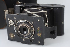 1928yr Rokuo-sha (Konica) Pearlette camera 40x65mm format + case from Japan m025