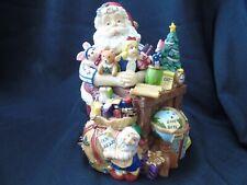 "Fitz & Floyd Musical Santa & Toys Christmas Music Box ""Toyland "" Euc Orig. Box"