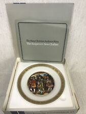 "Royal Copenhagen Hans Christian Andersen Plates ""The Emperor's New Clothes"""