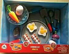 Disney Junior Mickey Mouse Cooking Set Kitchen Food Utensil Play Set NEW READ