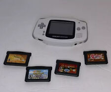 Nintendo Game Boy Advance White Handheld System Plus Four Games