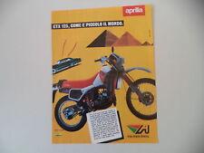 advertising Pubblicità 1985 MOTO APRILIA ETX 125