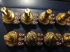 Volume/Tone Pots Mini Size A/B250k x2 Gold Split shaft Electric Guitar/Bass
