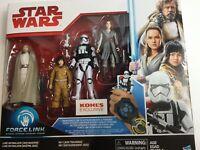 Hasbro STAR WARS FORCE LINK Action Figures Kohls EXCLUSIVE 2017