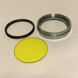 ACTINA 34mm PUSH ON FILTER HOLDER AND 30mm YELLOW FILTER GLASS