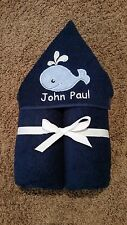 Personalized Whale Hooded Towel