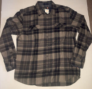 Quiksilver Waterman Collection Plaid Walker Lake Long Sleeve Button Up XL