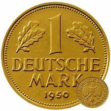 +++ 1 DM 1950 - 24 Karat vergoldet - 70.Geburtstag  +++