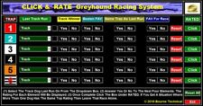 CLICK & RATE Fast Input Greyhound Racing System