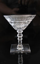 """ANTIQUE EARLY 1900s HAWKES CUT CRYSTAL DUDLEY 4 1/2"""" CHAMPAGNE GLASS 10 TOTAL"""