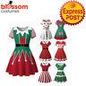 K968 Snowman Christmas Vintage Swing Flare Dress 50s Snowflake Xmas Rockabilly