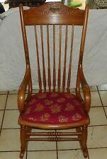 Maple Carved Steam Bent Rocker / Rocking Chair  (R155)