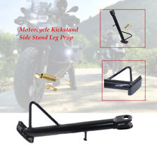 1pcs Black Motorcycle Kickstand Side Stand Leg Prop Non-slip stripes Bold