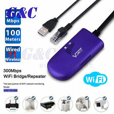 300M VAP11G Cable de puente inalámbrico RJ45 Puerto Ethernet Para Wifi Dongle AP Vonets