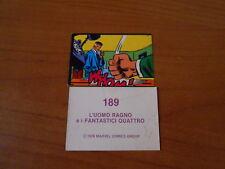 figurina L'UOMO RAGNO e i FANTASTICI QUATTRO n.189-MARVEL COMICS 1978