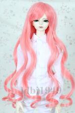 "1/3 8-9"" Bjd Wig Dal Pullip BJD SD LUTS MSD DD Dollfie Long Red Pink Doll wig"